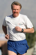 Pat running in Ras Al Khaimah, UAE, early 2008
