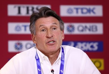 DOHA, QATAR - OCTOBER 06: IAAF President Lord Sebastian Coe speaks during a press conference on day ten of 17th IAAF World Athletics Championships Doha 2019 at Khalifa International Stadium on October 06, 2019 in Doha, Qatar. (Photo by Alexander Hassenstein/Getty Images for IAAF)